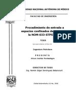 Procedimiento de Entrada a Espacios Confinados de Acuerdo a La NOM-033-STPS-2015