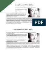 Gabriela Mistral Biografia
