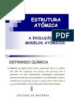 Aula 1 Estrutura Atomica e Evolucao Modelos Atomicos
