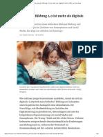 Bildung4.0 Ist Mehr Als Digitale Tools