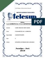 La Gerencia y La Administración Telesup