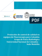 Protocolo de control de calidad en FLUOROSCOPIA 1.9