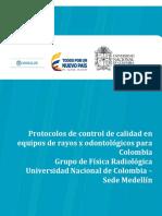 Protocolo de control de calidad en Odontologico 1.9