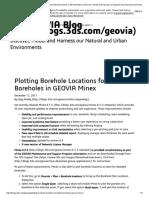 Plotting Borehole Locations for Deviated Boreholes in GEOVIA Minex