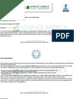 Paper From Advance America Cash Advance