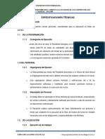 8.0 Especificaciones Tecnicas