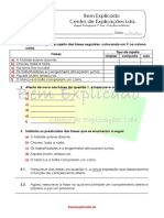 2.9 Funções Sintáticas Ficha de Trabalho 1