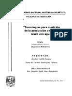 Tecnologías Para Medición de Aceite Crudo Con Agua