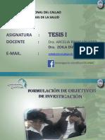 TESIS I Objetivos 2018 1