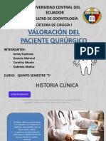 Valoracion Paciente Quirurgico