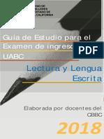 Guía Estudio Examen Ingreso UABC Área Lectura y Lengua Escrita 2018