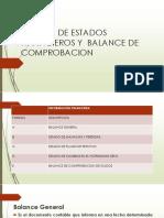 Formas de Estados Financieros y Balance de Comprobacion