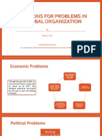 Solutions for Real Problems in an Organization