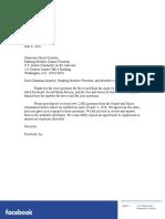 Zuckerberg Responses to Judiciary Committee QFRs