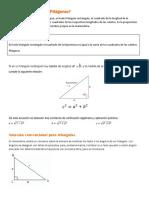 Teorema de pitágoras y razones trigonometricas