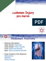 Abdomen Injury - English
