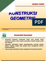 3. Konstruksi Geometris (gambar teknik)