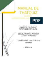 Manual Thatquiz