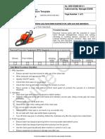 Chainsaw Fuel Procedure