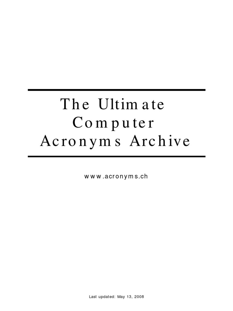the ultimate computer acronyms archive operating system computer network