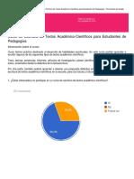 Encuesta Curso de Redacción de Textos Académico-científicos Para Estudiantes de Pedagogía