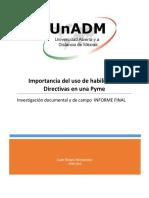 Informe Final Investigación Documental y de Campo
