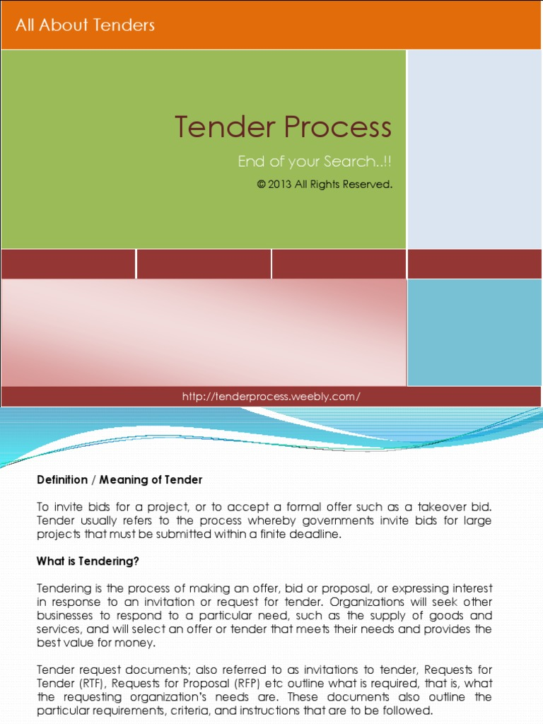 tenderprocess-131010000753-phpapp02 pptx | Request For