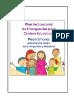 Plan de Emergencia Escolar Tsunami