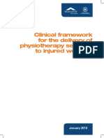 Clinical Framework for the Delivery of Physiotherapy Services to Injured Workers