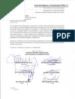 Junta de Gobierno y Coordinación Política acepta Recomendación