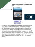 Depuracion Y Desinfeccion de Aguas Residuales (5ª Ed)