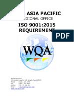 Clausul ISO 9001 2015 Bilingual WQA