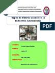 Tipos de Filtros Usados en La Industria Alimentaria