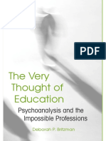 Deborah P. Britzman-The Very Thought of Education_ Psychoanalysis and the Impossible Professions-State University of New York Press (2009)