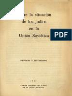 Sobre La Situación de Los Judios en La URSS