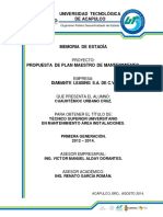 1. Propuesta de Plan Maestro de Mantenimiento