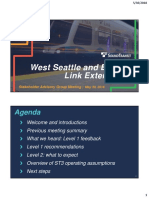 West Seattle Ballard Stakeholder Advisory Group Meeting Presentation 5-30-18