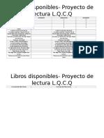 Lista de Libros recomendados de la literatura universal