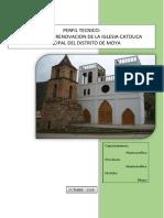 Perfil Mejoramiento de Iglesia de Moya