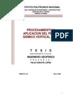 Procesamiento y Aplicación Del Perfil Sísmico Vertical (VSP)