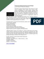 Wastewater Pathogens (Wastewater Microbiology)