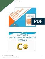 Capítulo 3 El Lenguaje c# y Diseño de Formas. Programación Orientada a Objetos en c#.Net