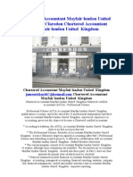 Chartered Accountant Mayfair London England UK