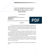 Utilization of Artificial Rain Gauge for Hydro Meteorological Study(Field Report)
