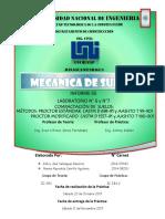 Laboratorio #6 y 7 de Mecánica de Suelos 1 - Proctor
