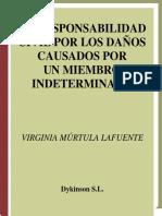 Virginia Murtula-La Responsabilidad Civil Por Danos Causados Por Un Miembro Intermedio de Un Grupo (Spanish Edition) (2009)