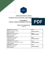 PYC-SSOMA-PR012 Control y Manejo de Derrame