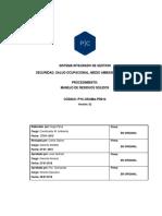 PYC-SSOMA-PR014 Manejo de Residuos Sólidos