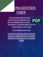 Indicaciones Para La Guía de Estudio Del 5to