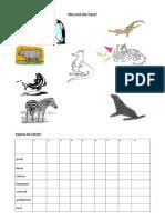 Tiere Erste Klasse